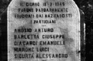 Cippo a ricordo dei cinque patrioti fucilati per rappresaglia a Villa Pino