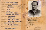 Tessera del partigiano Giovanni Algini