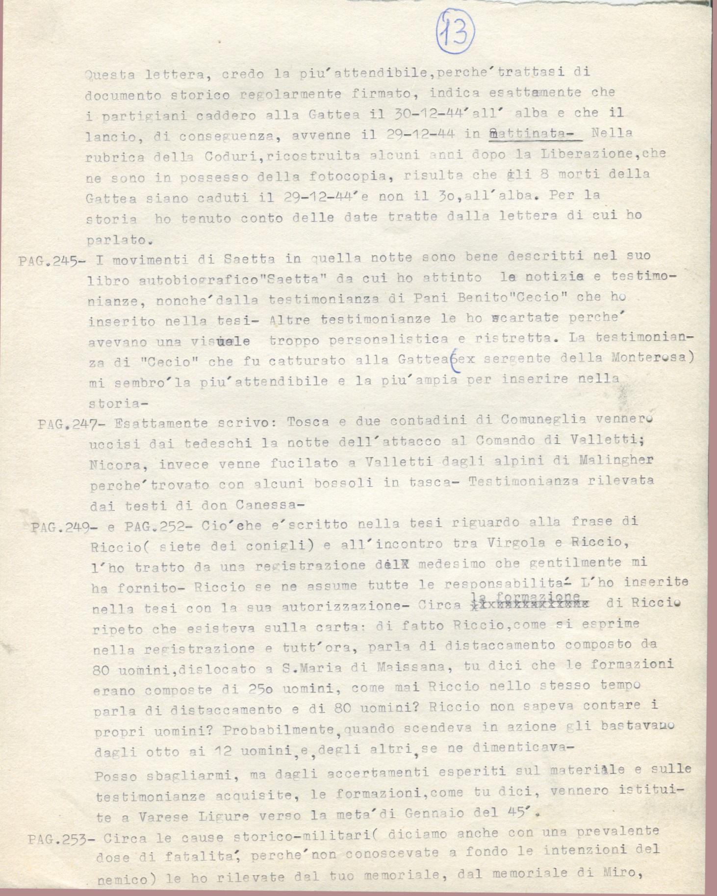 Lettera di Amato Berti a Bruno Monti Leone pag, 13