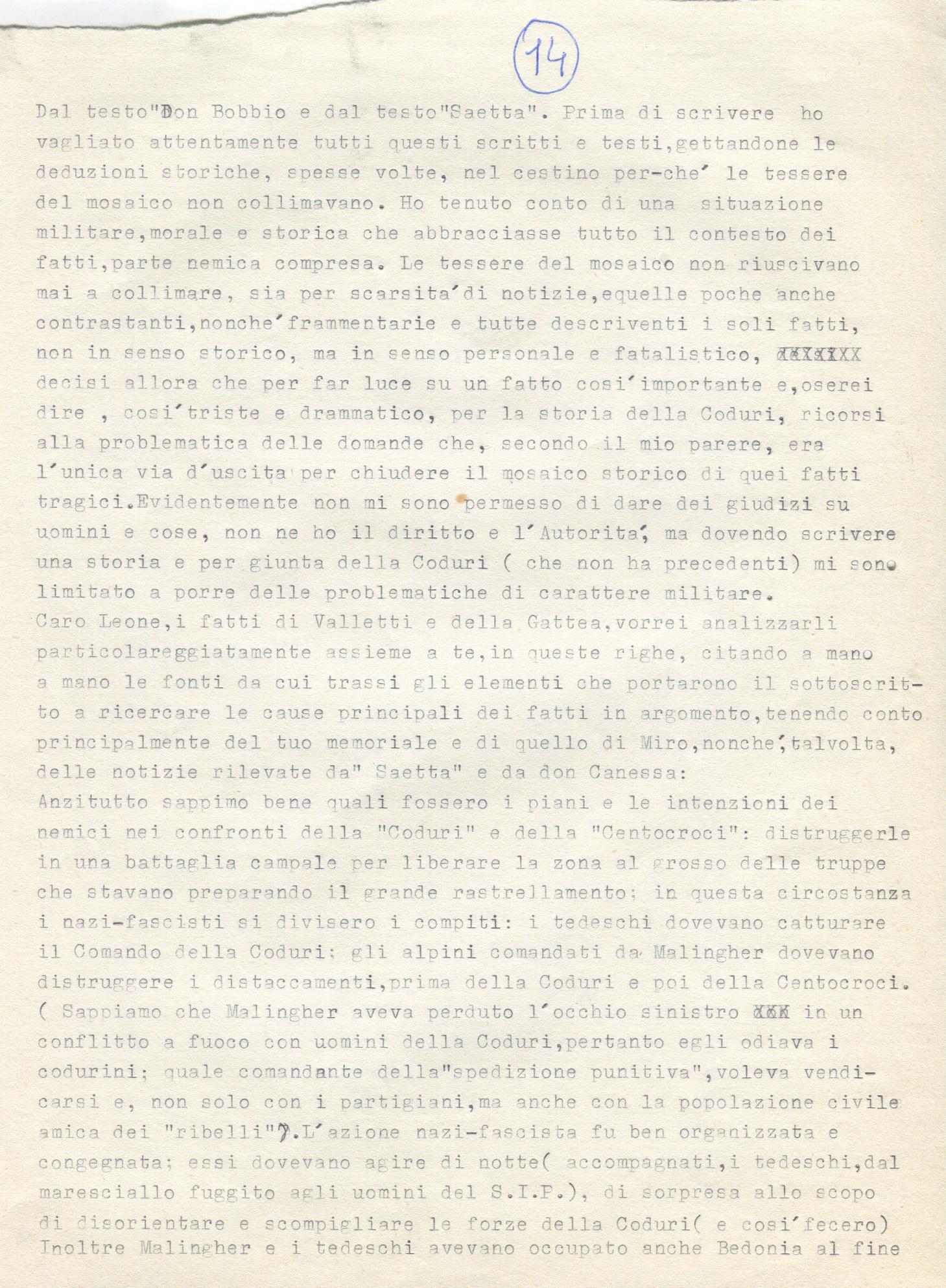 Lettera di Amato Berti a Bruno Monti Leone pag, 14