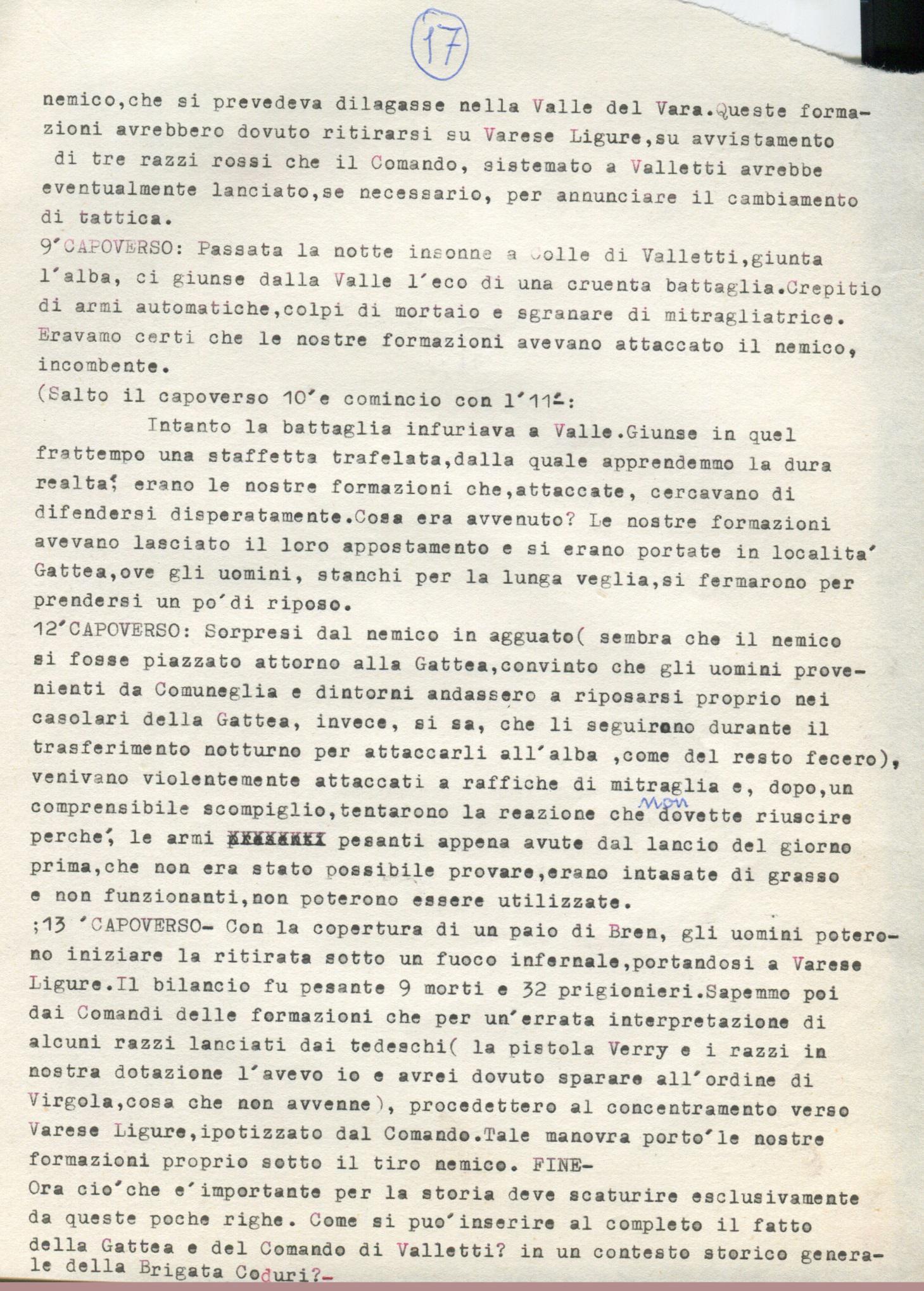 Lettera di Amato Berti a Bruno Monti Leone pag, 17