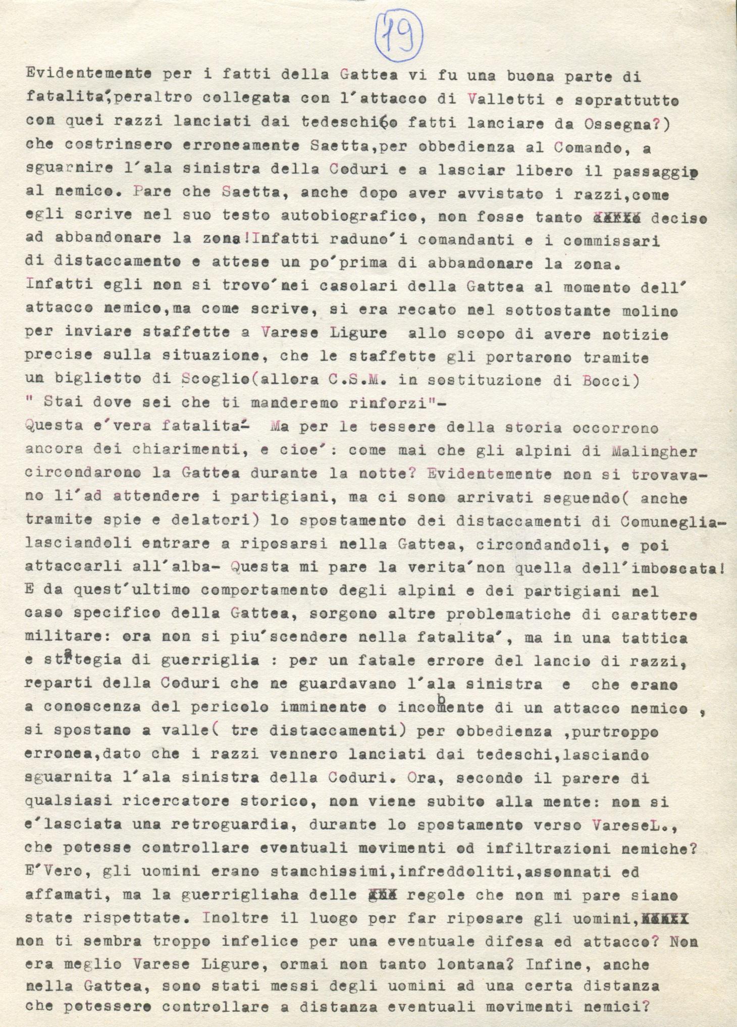 Lettera di Amato Berti a Bruno Monti Leone pag, 19