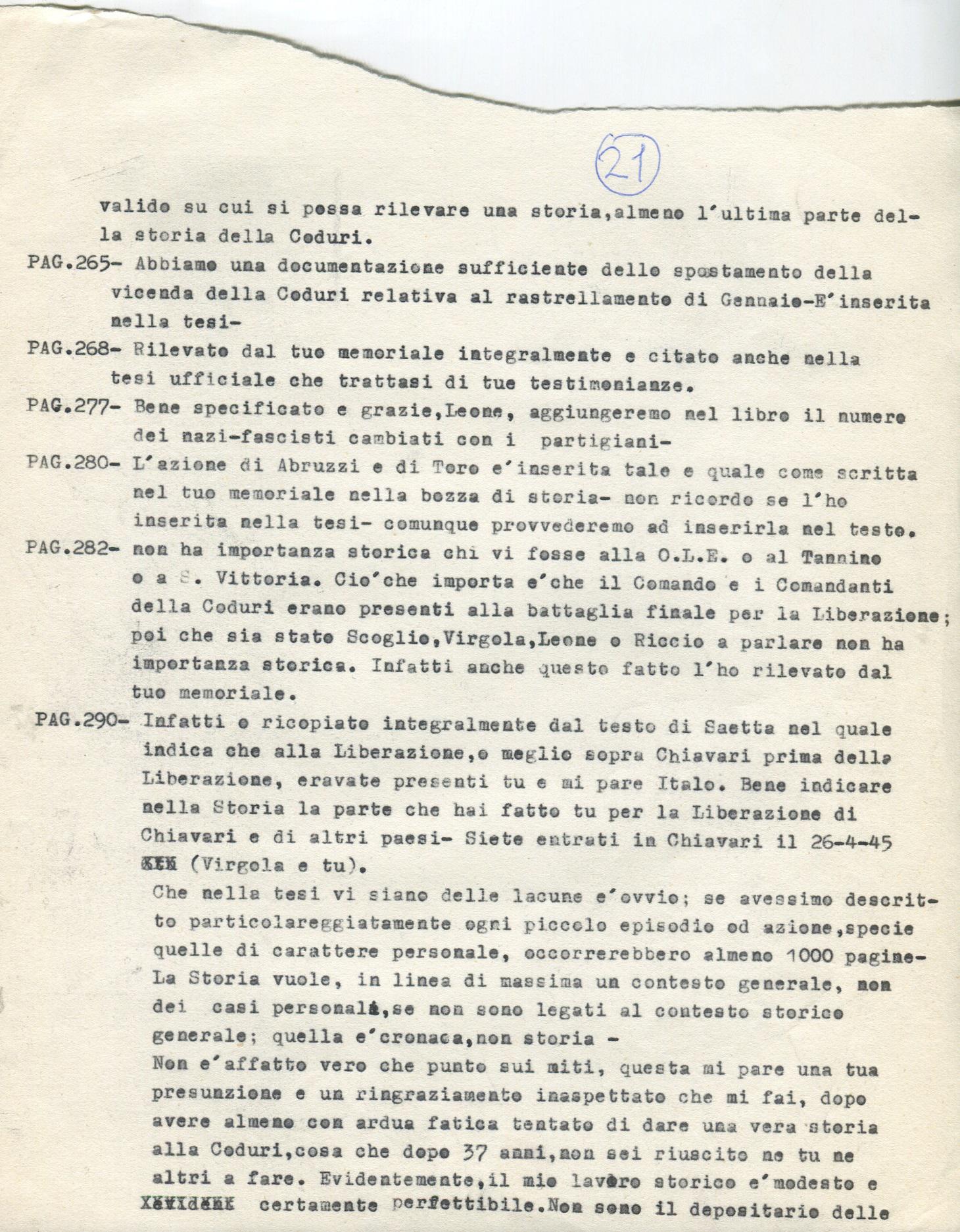 Lettera di Amato Berti a Bruno Monti Leone pag, 21