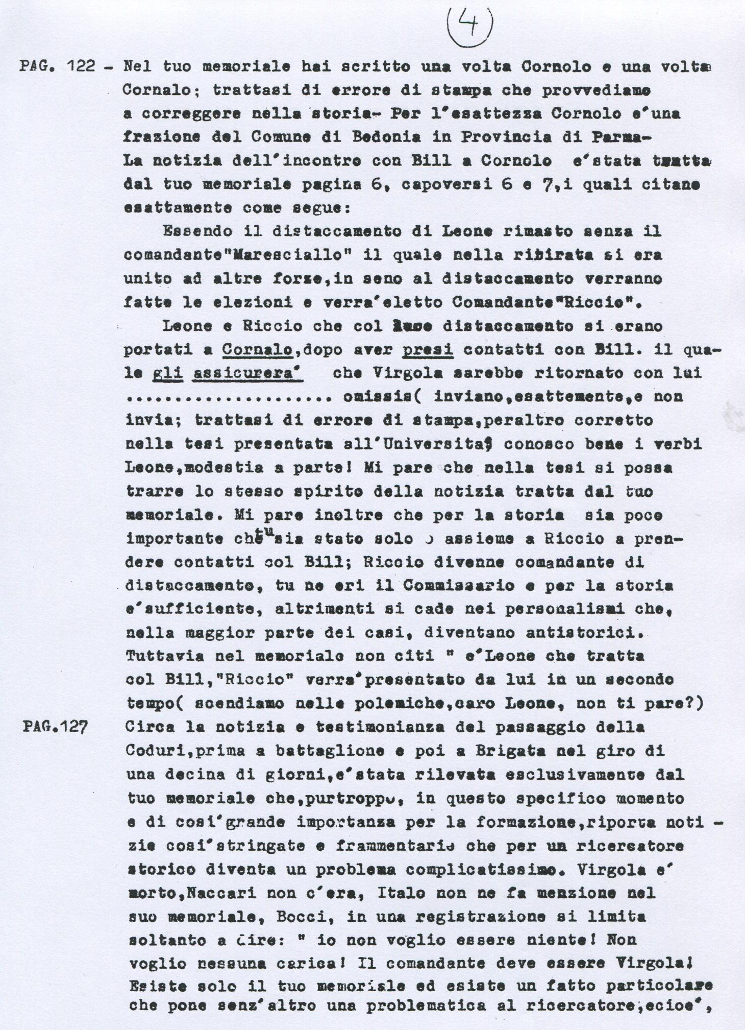 Lettera di Amato Berti a Bruno Monti Leone pag, 4