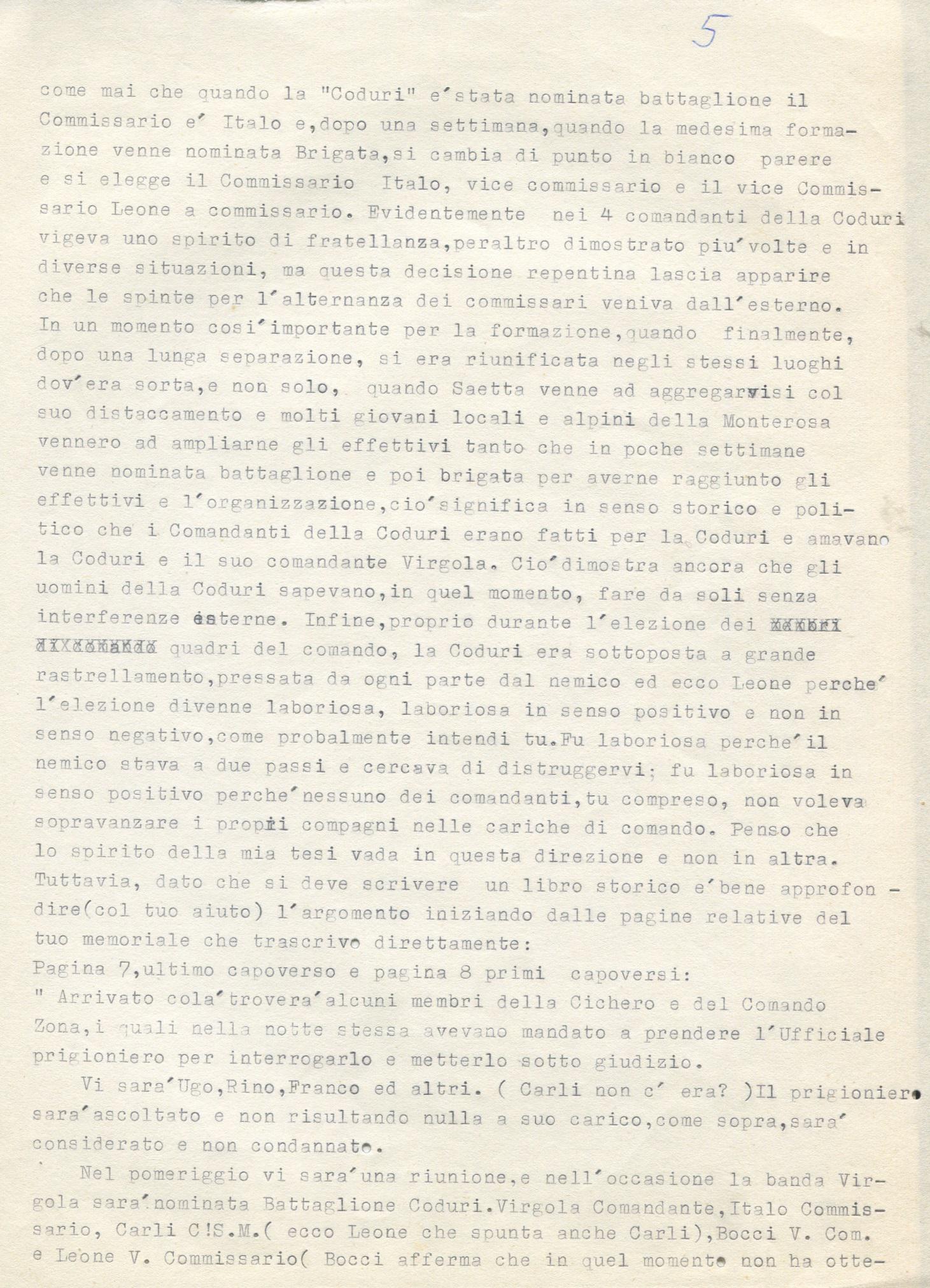 Lettera di Amato Berti a Bruno Monti Leone pag, 5