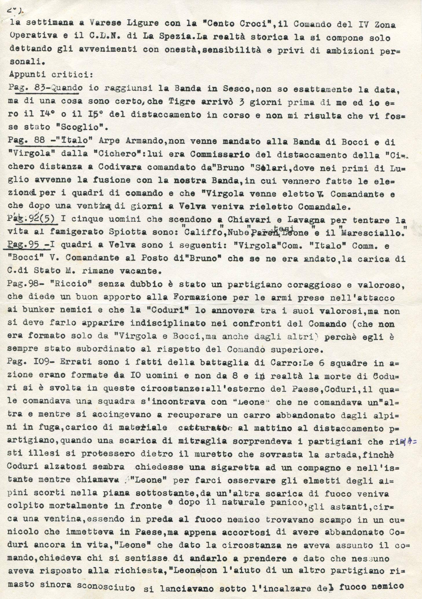 Lettera di Leone ad Amato Berti pag. 2