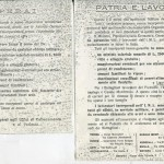 Fotocopia dei due manifestini di propaganda allegati alla lettera N° 1833 della Prefettura di Genova riguardanti il reclutamento volontario dei lavoratori