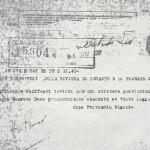 """Fascicolo n.12- Doc. n.6: """"DIFFUSIONE DECRETO DUCE PRESENTAZIONE SBANDATI ET FUORI"""