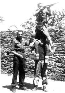 Gruppo partigiano a Riva Trigoso.