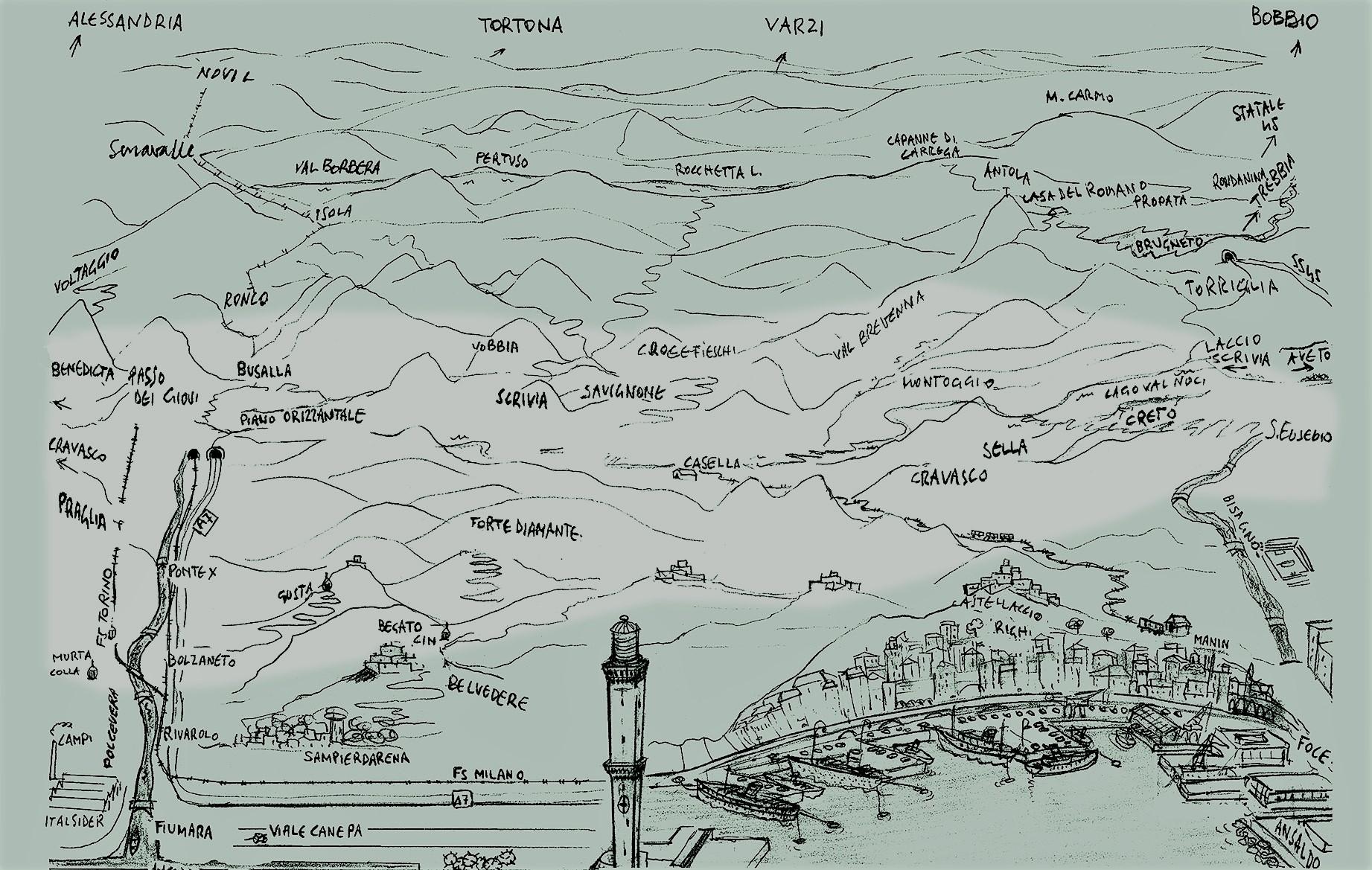 6667121a26 Mappa dove operò principalmente la Div. Cichero, dentro i territori della  VI Zona Operativa Liguria.